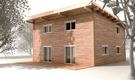 Une maison bbc en bois pour moins de 100 000 for Maison en autoconstruction