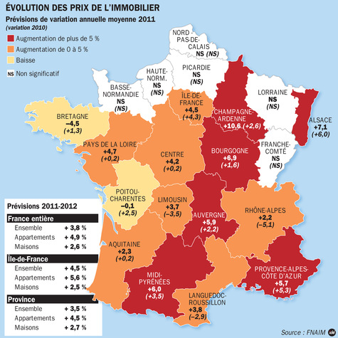 Evolution des prix de l 39 immobilier en 2012 - L as de l immobilier ...