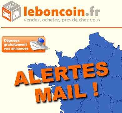 alertes mail des annonces leboncoin